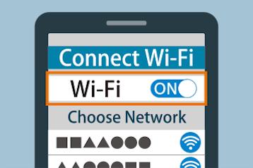 Wi-FiをONにした画像